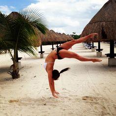 Gymnastics on da beach #love