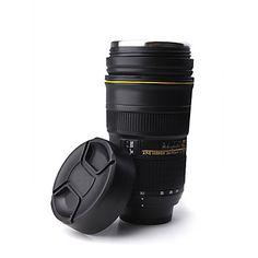 única simulação manequim lente zoom garrafa térmica caneca copo (300 ml) – BRL R$ 51,51