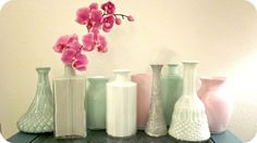 Live Gorgeously: Painted Thrift Store & Dollar Store Vases!