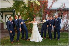 lionsgate gatehouse wedding fun bridal party photos groomsmen bride
