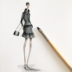 Illustrating Chanel AW15, Jeanette Getrost