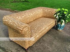 Victorian Chesterfield fully restored by Vintage 57 finished in vintage Mulberry Home Fabric Mulberry Home, Chesterfield, Outdoor Furniture, Outdoor Decor, Sofas, Restoration, Bench, Victorian, Ebay