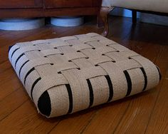 Woven Jute Floor Cushion, as seen on Apartment Therapy.