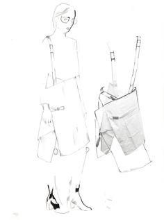 Fashion Sketchbook - fashion sketches; tailoring development; fashion portfolio // Alexandra Baldwin