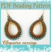 DIY Beading pattern Cleopatra earrings - via @Craftsy