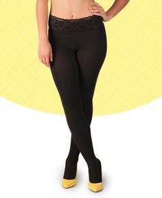A pair of black Hipstiks is classic all the time. Black Hipstiks move from office to out to drinks without a change. Black Opaque Tights, Black Pantyhose, Footless Tights, Fashion Tights, Sustainable Fabrics, Comfortable Outfits, How To Wear, Bodies, Online Shopping