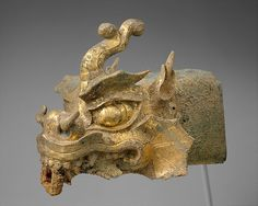Rafter finial in the shape of a dragon's head and wind chime, 10th century. Korea. The Metropolitan Museum of Art, New York. Purchase, The Vincent Astor Foundation Gift, 1999 Benefit Fund, and The Rosenkranz Foundation Inc. Gift, 1999 (1999.263a, b) #halloween