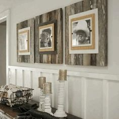 GOING COASTAL - Upcycling Interiors: 10 Top Pallet Ideas - really like the idea of using this in the nursery - maybe as a backdrop to letters spelling out his name? Pallet Ideas Love, Pallet Ideas For Walls, Rustic Pallet Ideas, Barnwood Ideas, Pallett Ideas, Pallet Walls, Pallet Interior Ideas, Pallet Photo Frames, Diy Wood Picture Frame