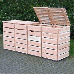 Mülltonnenbox Holz Natur