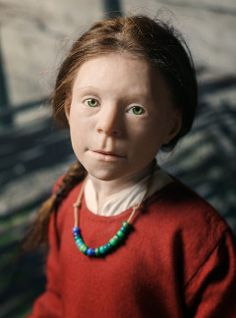 Birka girl gets new life  Print  Here you can learn about a little girl who lived in the Viking town of Birka long ago. We are curious as to who she was. In the autumn of 2011 recreated sculptor Oscar Nilsson Birka girl's face at the Historical Museum. She has a permanent place in our Viking Exhibition and now reconstruction also got a name - Disa!