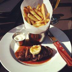 Paris. steak frites YUM! i'd like to have it. :D