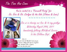 Free Printable Farewell Party Theme Invitation Template  Diy