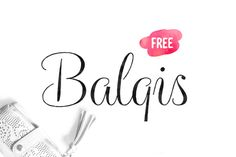 Balqis Free Font is a feminine striped-rough calligraphy typeface that presents casual and natural feeling. Suitable for wedding invitations, greeting card designs, logos, or everything you may think it suits.