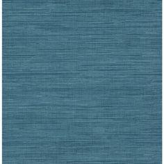 Brewster Wallcovering Brewster Essentials Blue Non-Woven Grasscloth Wallpaper