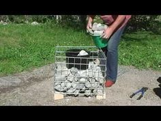 LOW COST Stone gabion baskets for planters Garden landscaping rock wall seats, materials Gabions for California waterfalls ponds fences Landscape gardens United States of America