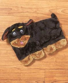 Rottweiler Squeakie Pup - Puppy Dog Plush No Stuffing Squeak Toy Christmas Gift #ZippyPaws