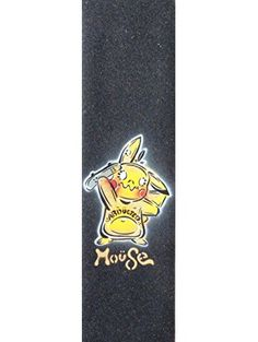 "Pikakrue Moüse Skateboard Grip Tape Sheet Black 9"" x 33"" BUBBLE FREE ❤ Moüse Movement"