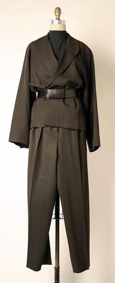 Ensemble Azzedine Alaïa (French, born Tunisia, 1940) Date: fall/winter 1984–85 Culture: French Medium: (a - c) wool (d) leather