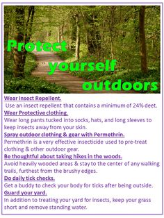 Protect yourself outdoors