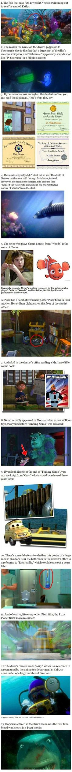 Finding Nemo facts.I love this LOVE THIS!!!!!!!!!!!!!!!!!!!!!!!!!!!!!