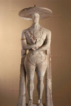 Gallery of Capestrano warrior, the symbol of Abruzzo. Archeological museum of Chieti, Italy #laviadegliabruzzi