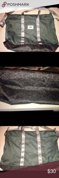 VS Pink weekender bag tote VERY LARGE bag or tote. Brand new, never used. Comes from a smoke free and clean home PINK Victoria's Secret Bags Totes