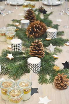 Christmas tabletop styling