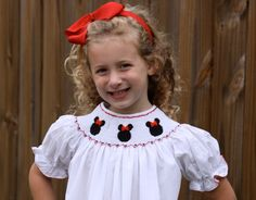 Minnie Mouse Ruffle Pants Set by sugarandspiceSMOCKED on Etsy, $35.00