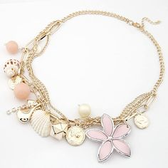 2014 Fashion Vintage Gold Body Chain Shell Flower Collar Necklaces Pendants Statement Necklace Women Men Jewelry for Bijoux-in Chain Necklaces from Jewelry on Aliexpress.com | Alibaba Group