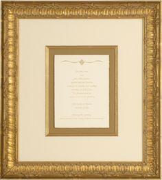 Framed wedding invite