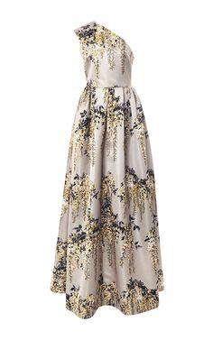 Wisteria Duchesse One Shoulder Dress by ROCHAS for Preorder on Moda Operandi