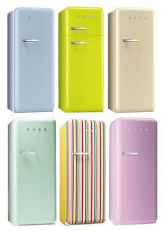 Retro cool fridges from Smeg. (via blogs.canada.com)