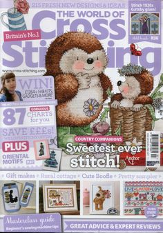 The World of Cross Stitching Issue 207 patterns pinned