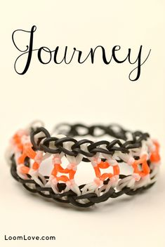 How to Make a Journey Bracelet - Rainbow Loom video tutorial