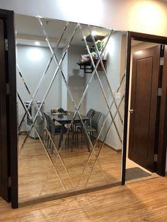 Door Design, Wall Design, House Design, Modern Mirror Design, Mirror Panel Wall, Mirror Ornaments, Dream Home Design, Decoration, Wall Decor