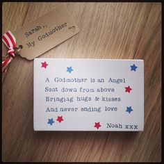Godmother gift Block of words
