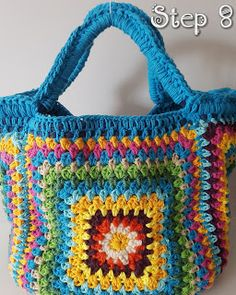 TUTORIAL CROCHET BAG BLUE