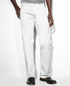 Levi's 569 Loose Straight Fit White-Wash Jeans