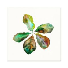 Fiddle Leaf Fig Watercolor Print.  Botanical Art.  Leaf Watercolor.  Wall Art.  Gardener Art.