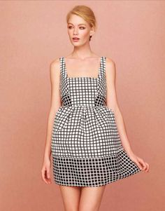The grids on this dress remind me of a road map in a very orderly city. Excited for this to go on sale. ASOS Spring Collection 2013