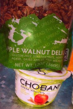 Apple Walnut Love Grown Foods and Apple Cinnamon Chobani