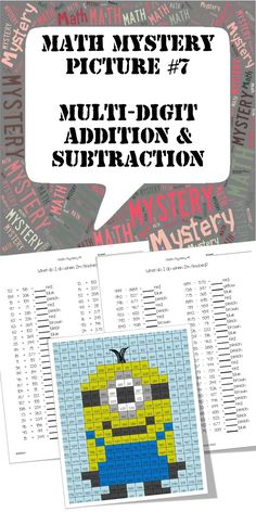 It's my 2nd Minion! The kids will love this one! Visit my TPT store for a full preview of this addition and subtraction mystery picture. $
