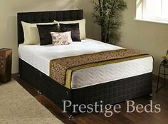 Double Bed Centre Charcoal Plush Velvet Fabric Divan Base Plus Matching Headboard and 4 Drawers 3ft 4ft 4ft6 5ft 6ft 4FT6