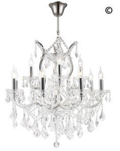 Maria Theresa Crystal Chandelier Grande 13 Light - CHROME – Designer Chandelier Australia
