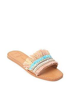 Beach Sandals/Easy DIY Embellished Slides for Summer Shoes Flats Sandals, Boho Sandals, Fringe Sandals, Beach Sandals, Slide Sandals, Strap Sandals, Women Sandals, Flat Sandals, Heels