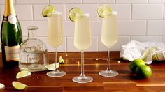 Champagne Margaritas  - Delish.com Champagne or sparkling wine should go in after the tequila. Rule of thumb for anything made with champs or spark. wine. If you put that in first then everything else; it'll kill the bubbles and make it go flat quicker.