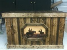 Rustic Cowboy Trunk by Rustic Touch MS | Stylish Western Home Decorating