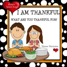 This book includes:1. A Super Cute Thanksgiving Story2. Matching Pieces3. Thankful Cue Cards4. Blank Thankful Cards5. Thankful WorksheetsMonaes Books are Interactive Stories used for developing and improving receptive and expressive language skills for children with language and/or learning disabilities.