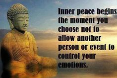 Don't let anyone ruin your inner peace