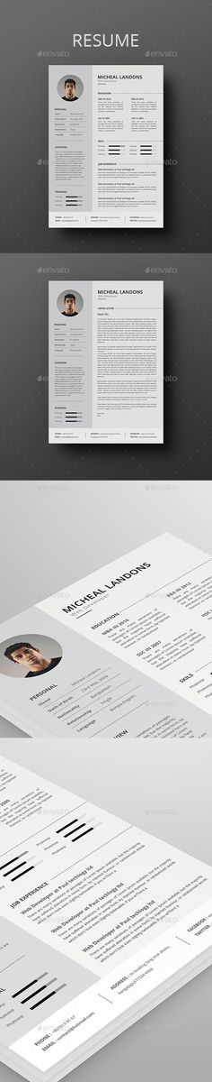 #Resume - Resumes Stationery Download here: https://graphicriver.net/item/resume/17826744?ref=alena994